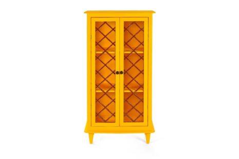 Armário Vintage 2 Portas Amarelo