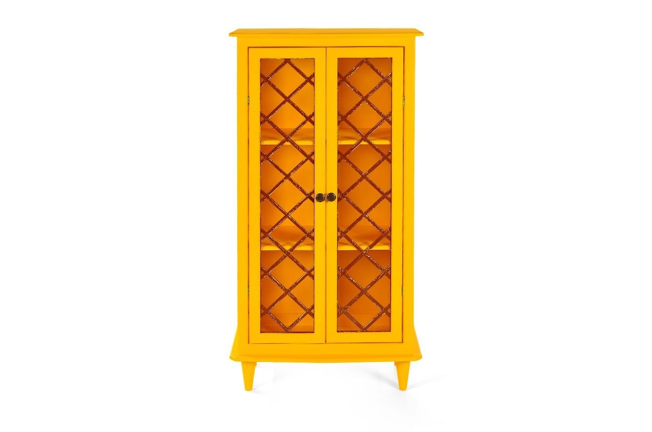 Armário Vintage Amarelo Aprimore Móveis e Decoraç u00e3o