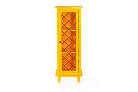 Armário Vintage 1 Porta Amarelo