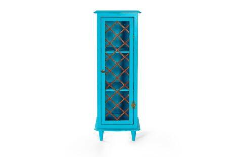 Armário Vintage 1 Porta Azul