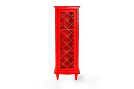 Armário Vintage 1 Porta Vermelho