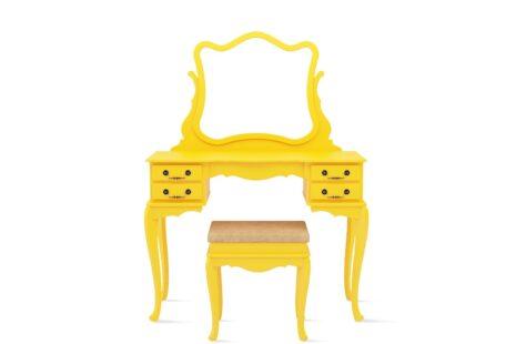Penteadeira Vintage Amarela