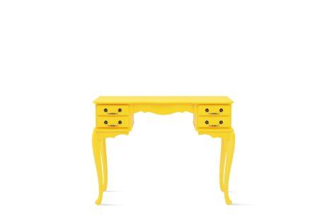 Escrivaninha Vintage Amarela