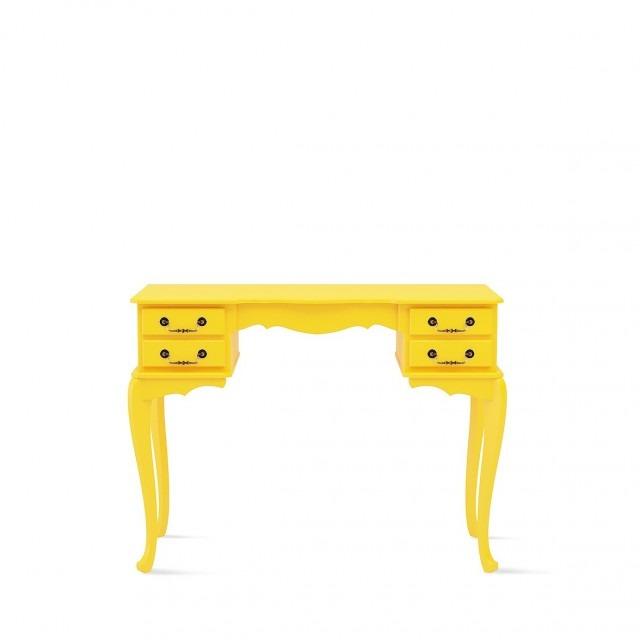 Escrivaninha-amarela