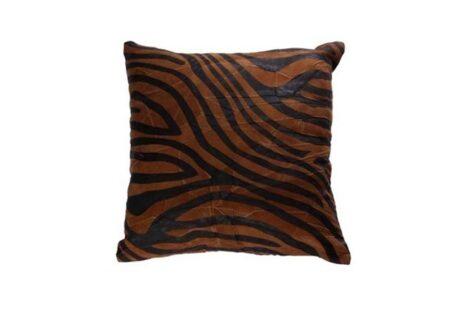 almofada-de-zebra-marrom-tecido