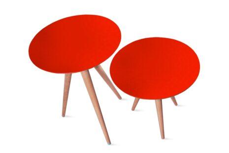 Conjunto de Mesas Laterais Palito Vermelho