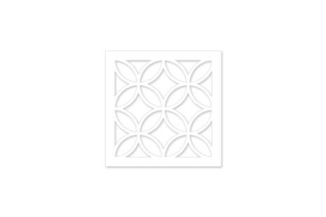 elemento vazado mdf - Branco