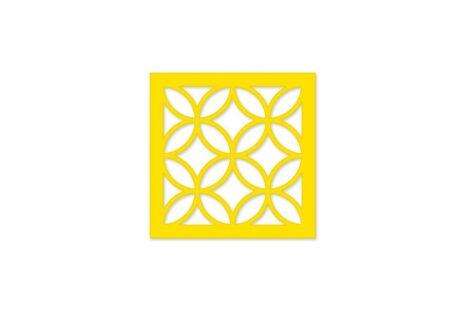 elemento vazado mdf - amarelo