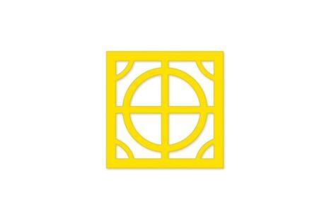 painel vazado mdf - amarelo
