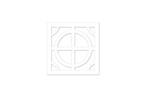 painel vazado mdf - branco