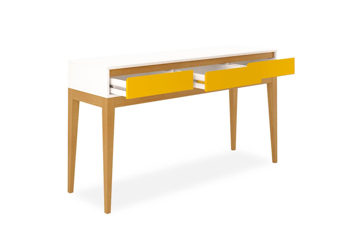 Aparador Com Gavetas Jatobá Amarelo Aprimore Móveis e Decoraç u00e3o