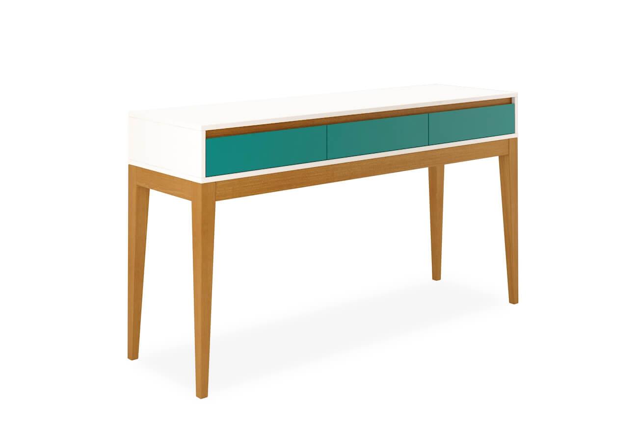 Armario Kallax Ikea ~ Aparador Jatobá 3 gavetas Verde Aprimore Móveis e Decoraç u00e3o