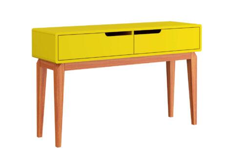 Aparador Jatobá 2 gavetas Amarelo