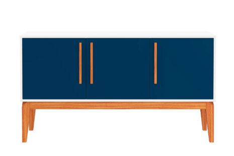 Buffet Jatobá 3 portas Azul