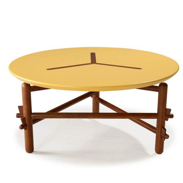 mesa-de-centro-redonda-amarela