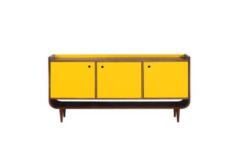 Buffet Curva 3 portas Amarelo