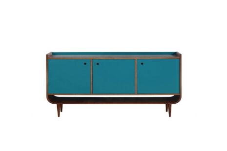 Buffet Curva 3 portas Azul