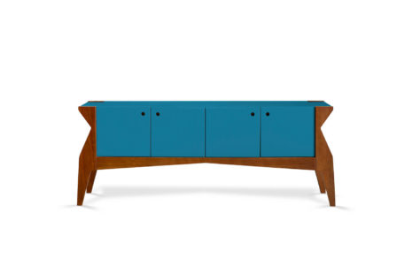 Buffet Base 4 portas Azul