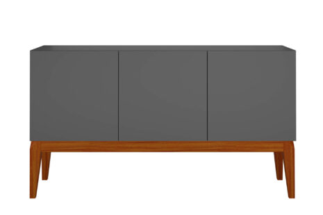Buffet Equilíbrio 3 Portas Espresso com base em madeira