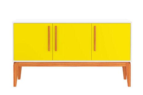 Buffet Jatobá 3 portas Amarelo