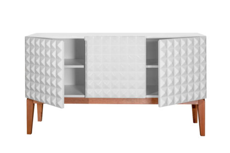 Buffet 3 portas Branco Diamante