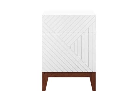 Criado Mudo Geométrico com porta Branco