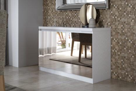 Buffet Truzzi Branco Com Espelho 118 x 75 x 44