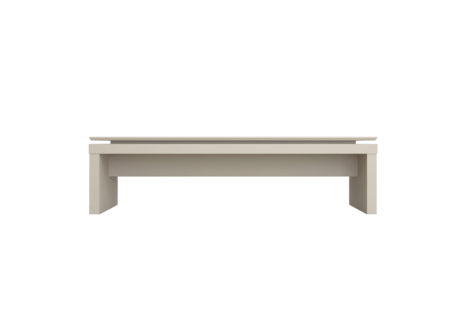 Mesa de Centro Lincoln Off White fosco Cinamono