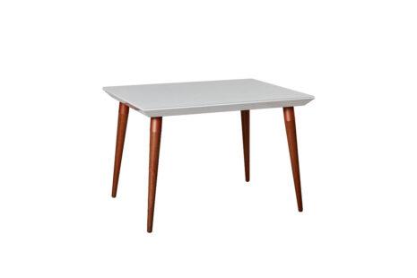 Mesa de Jantar Liv 115 cm Off-White com Vidro