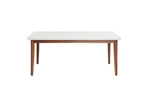 Mesa de Jantar Julien c/ Vidro 160 cm – Off-White