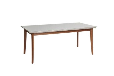 Mesa de Jantar Julien c/ Vidro 180 cm – Off-White