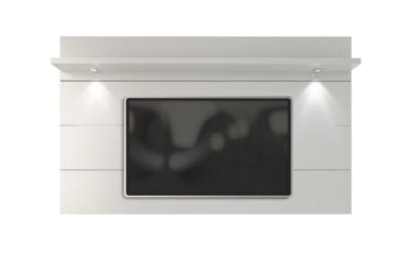 Painel de TV Home Horizon Branco Brilhante 217 cm