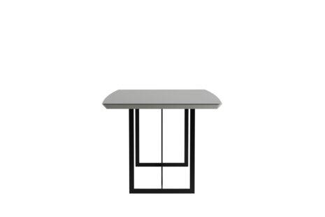 Mesa de Jantar Iron 219 cm Off-White com Vidro
