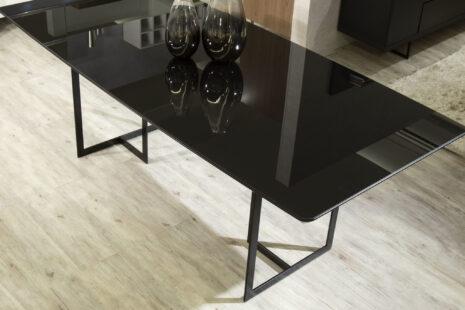 Mesa de Jantar Iron c/ Vidro 180 cm – Preto