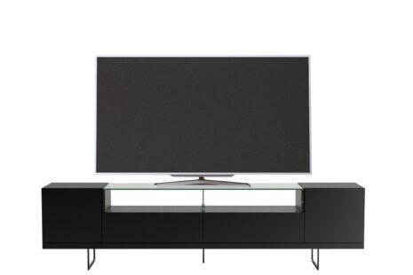 Rack Iron com painel de TV 217 cm Portoro c/ Preto Fosco