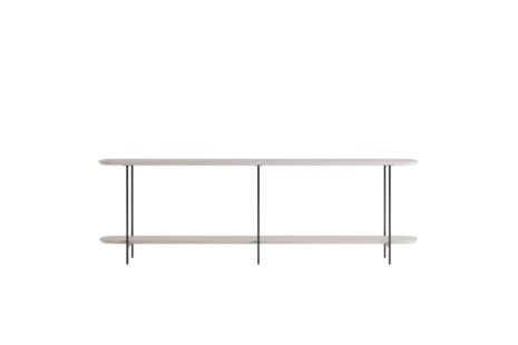 Sofá Table Iron 180 cm Off White Fosco