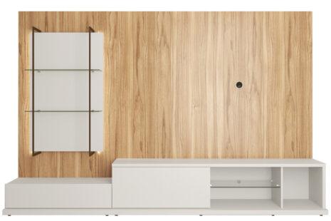 Rack com Painel Tivoli 270 cm – Cinamomo c/ Off-White Fosco