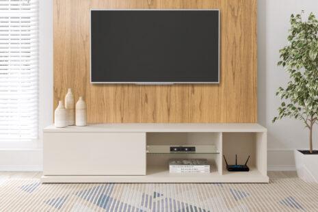 Módulo Rack Tivoli 180 cm – Cinamomo c/ Off-White Fosco