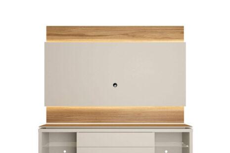 Rack com Painel Lincoln 195 cm – Cinamomo c/ Off-White