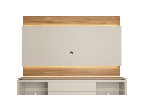 Rack com Painel Lincoln 217 cm – Cinamomo c/ Off-White