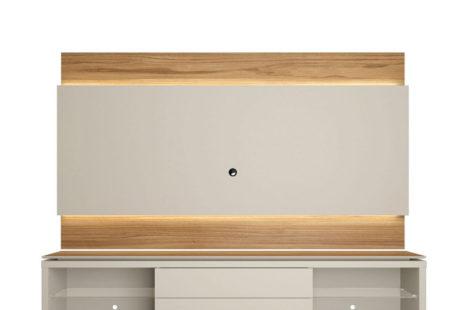 Rack com Painel Lincoln 240 cm – Cinamomo c/ Off-White