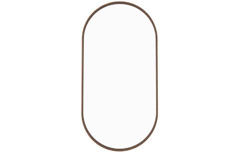 Espelho oval 45 x 90 moldura madeira