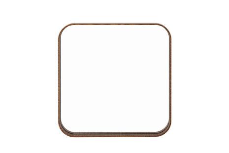 Espelho quadrado 45 x 45 moldura madeira