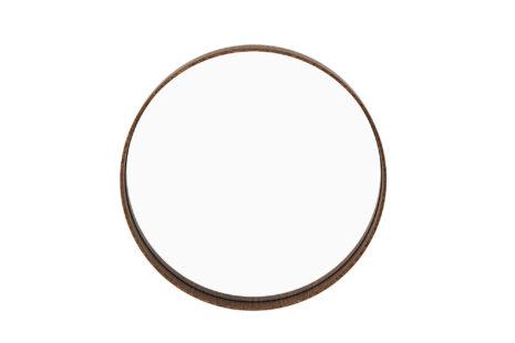Espelho redondo 45 x 45 moldura madeira