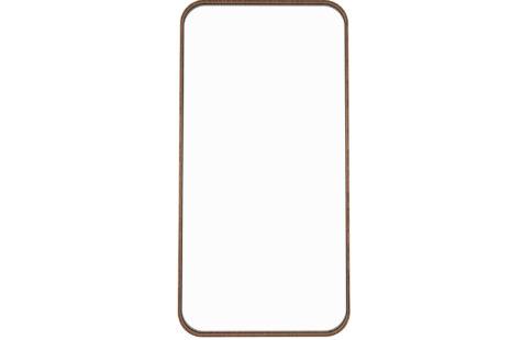 Espelho retangular 45 x 90 moldura madeira