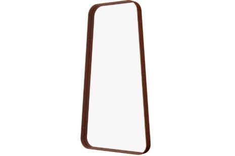 Espelho trapézio 45 x 90 moldura madeira