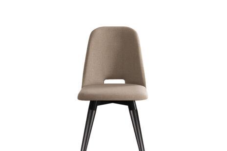 Cadeira Selina Giratória Linho – Pés Preto