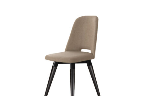 Cadeira Selina Giratória Linho – Preto