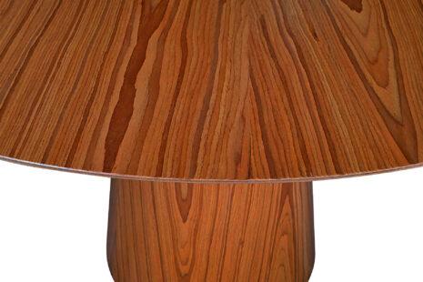 Mesa de Jantar Cone Redonda 120 cm – Freijó Castanho
