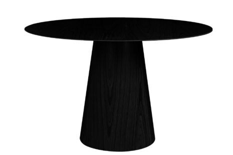 Mesa de Jantar Cone Redonda 120 cm – Freijó Preto